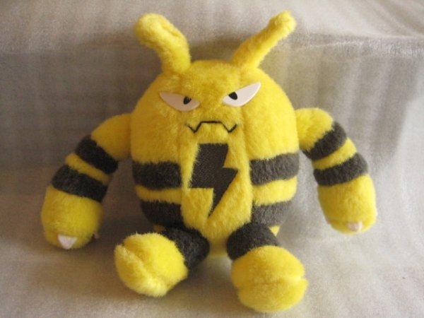 画像1: ポケットモンスター[エレキッドぬいぐるみ・旧トミー]Pocket Monsters[ Elekid plush toy/old TOMY ] (1)